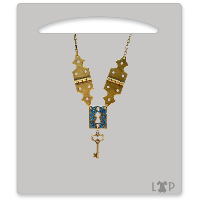 Collier Wonderland Bleu Roi
