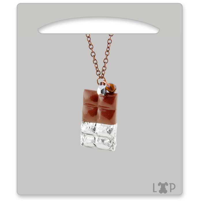 Collier Tablette Chocolat au Lait