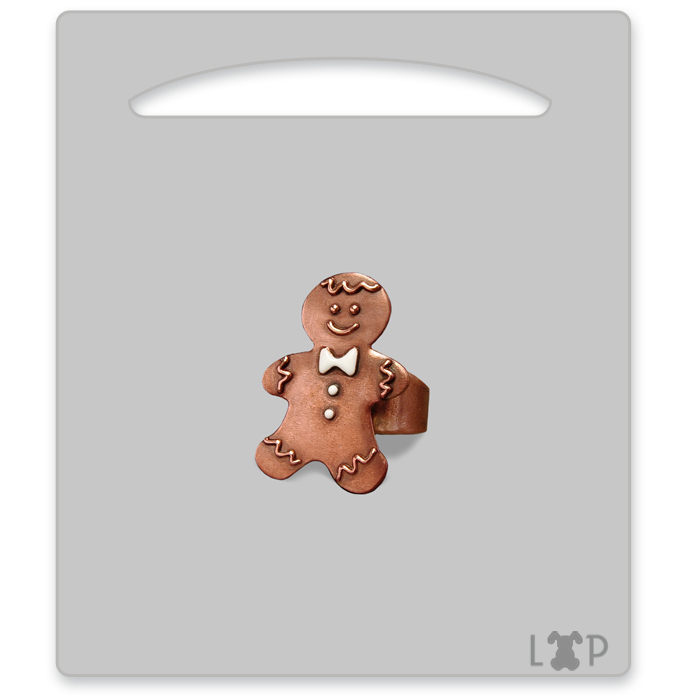 Bague Little Gingerman Blanc