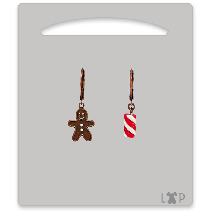 Boucles d'oreilles Little Gingerman Rouge