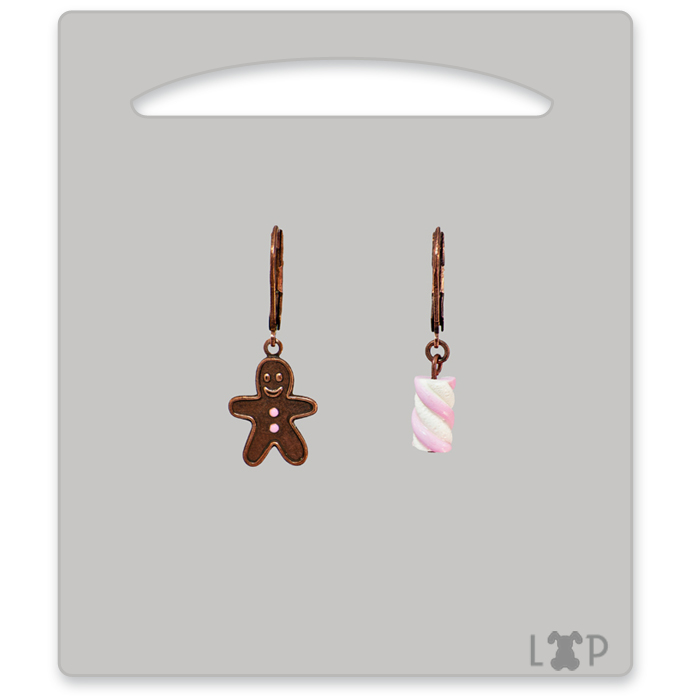 Boucles d'oreilles Little Gingerman Rose