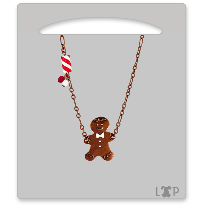Collier Little Gingerman Rouge