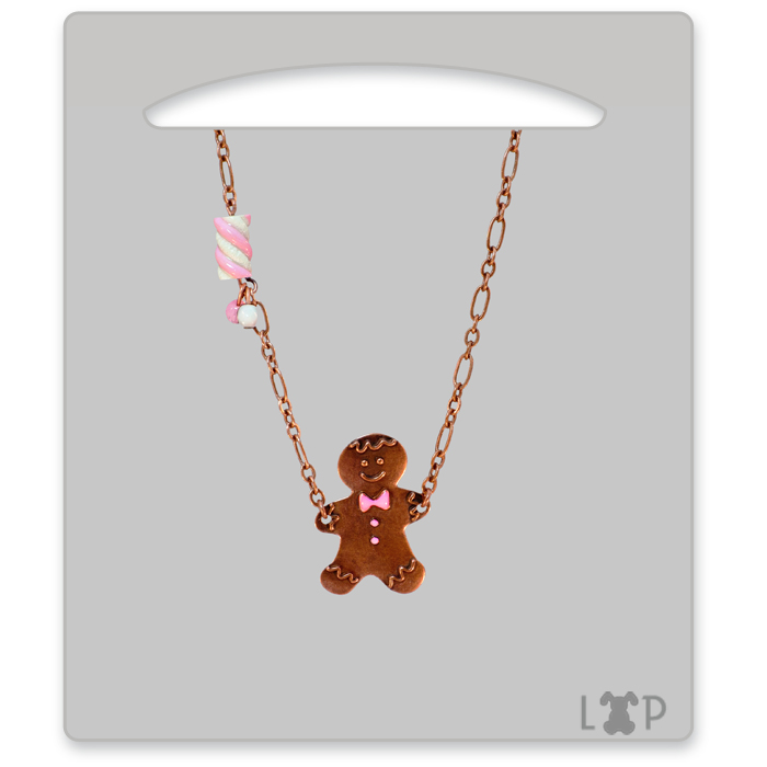Collier Little Gingerman Rose