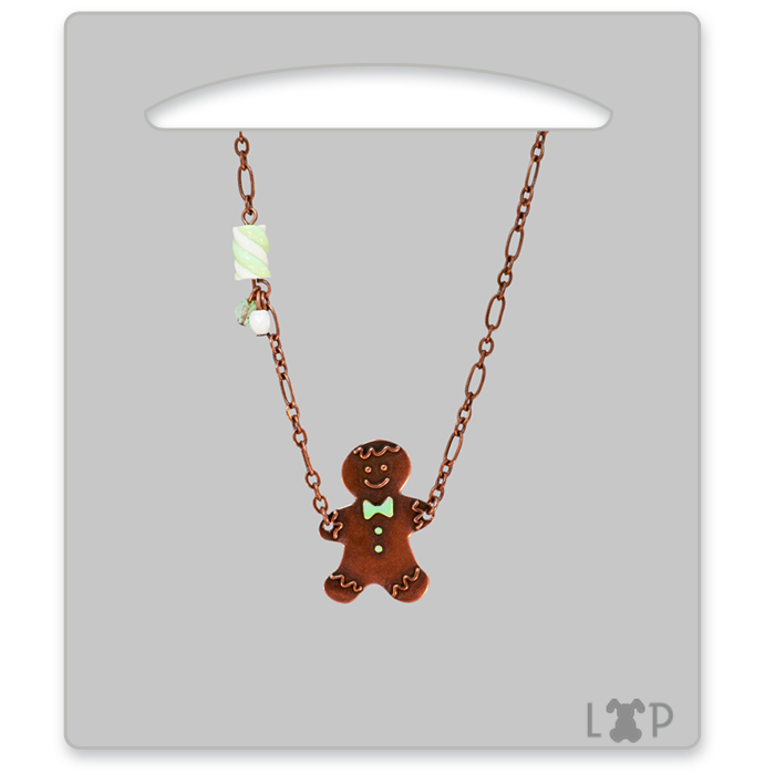 Collier Little Gingerman Vert