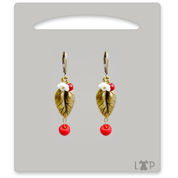 Boucles d'oreilles Bourgeon Red Chief