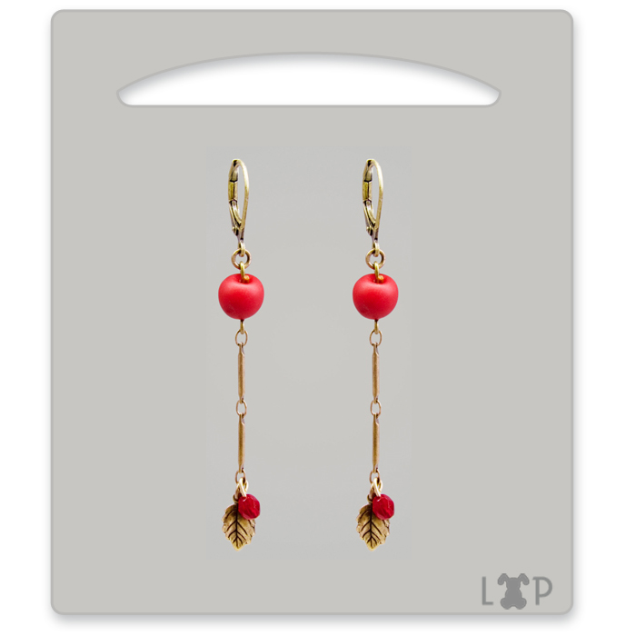 Boucles d'oreilles Tiges Red Chief