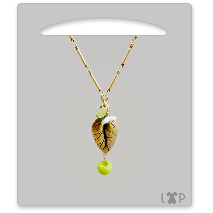 Collier Bourgeon Granny Smith